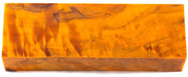 Raffir® stabilisiertes geflammtes Pappelholz orange