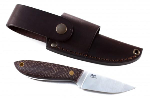 BRISA Messer Bobtail 80F Micarta bison Multi