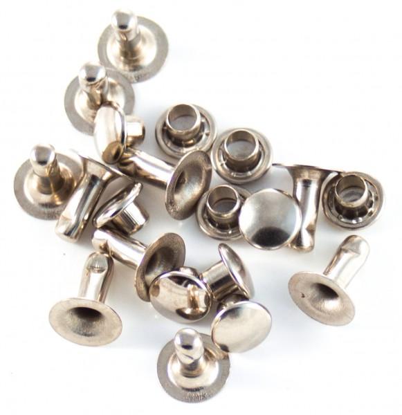 Nieten (10er-Packung) - nickel, ca. 7x8mm