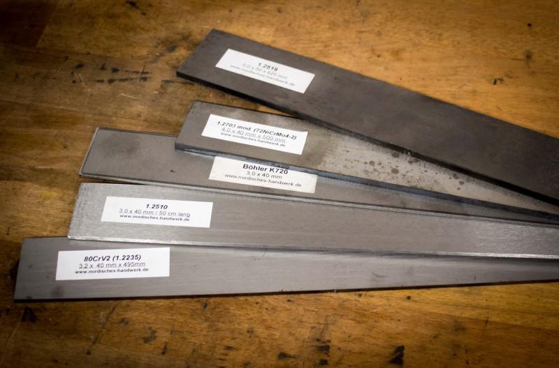 Große Auswahl an Stahlsorten
