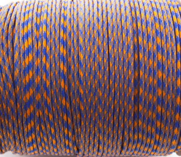 Paracord 550 - 5m Blau Orange Camo