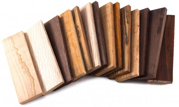 Holzabschnitte, Griffschalen-Stücke 0,5 kg