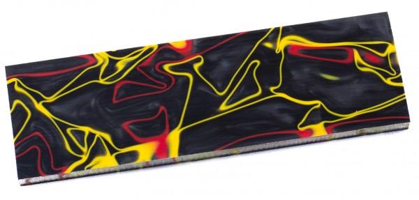 Kirinite schwarz/rot/gelb, Griffschale
