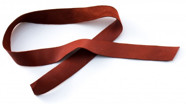 Lederriemen, Rentierleder braun 15mm breit