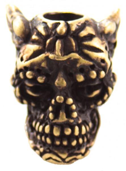 Aquillo Sugar Skull Bead roman Messing