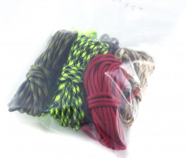 Paracord 550 - diverse Farben, 6 - er Beutel