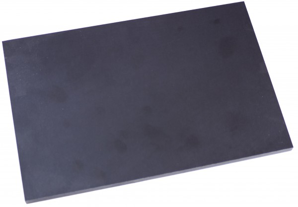 Leinen-Micarta Platte schwarz/hellgrau 8mm