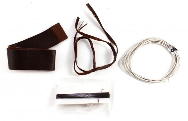 Bausatz Sami Armband aus Rentierleder dunkelbraun