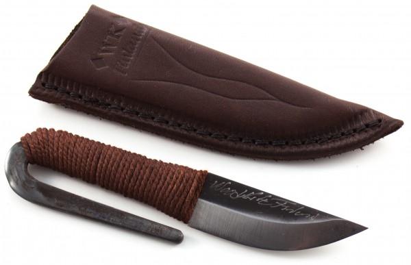 WoodsKnife Pocket Knife, carbon schwarze Klilnge