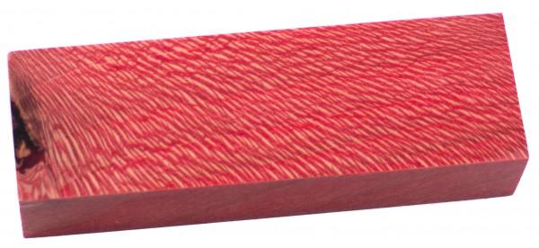 Raffir® stabilisiertes Platanenholz rot