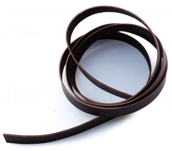 Lederstreifen / Lederriemen (1,5x15mm), braun, ca. 1200mm lang