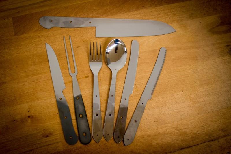 Große Auswahl an Messerklingen