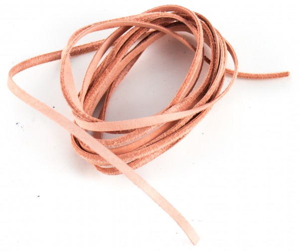 Lederschnur flach ca. 1mm stark, 1,5 Meter, Farbe: natur