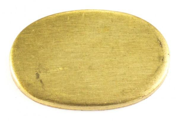Universalpassung Messing oval groß ohne Schlitz