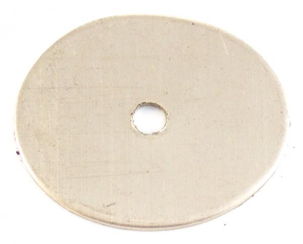 Zwischenstück aus Neusilber 33x28mm, 1mm