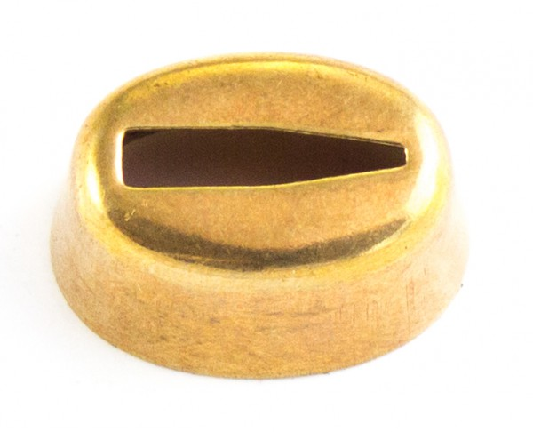 Hülse 15x23mm - Messing, V-Schlitz