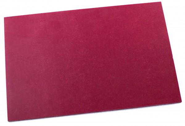 Leinen-Micarta rot Platte 3,5mm