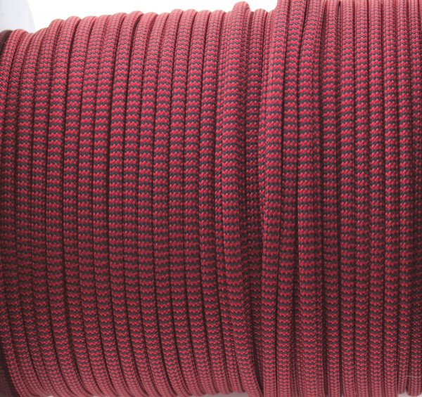 Paracord 550 - 5m Red u. Black Shockwave