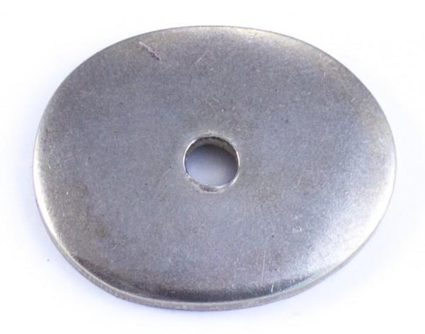 Nietplatte 28x23x2mm - Neusilber