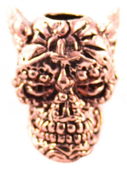 Aquillo Sugar Skull Bead Antik Kupfer