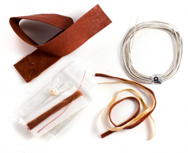 Bausatz Sami Armband aus Rentierleder hellbraun