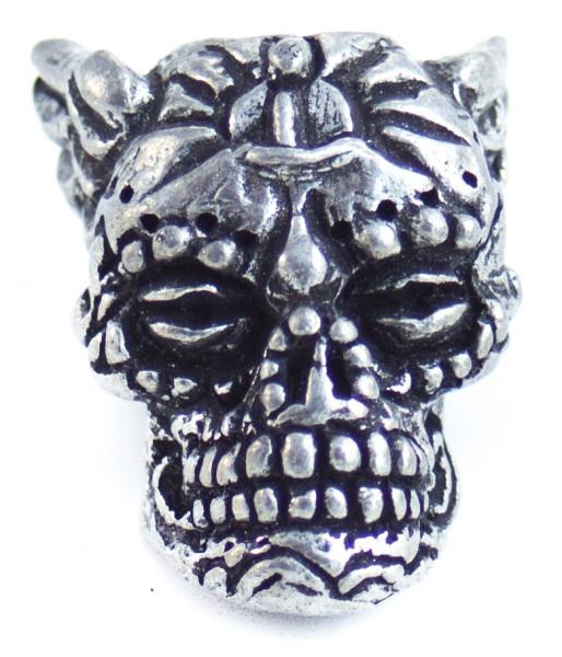 Aquillo Sugar Skull Bead Zinn