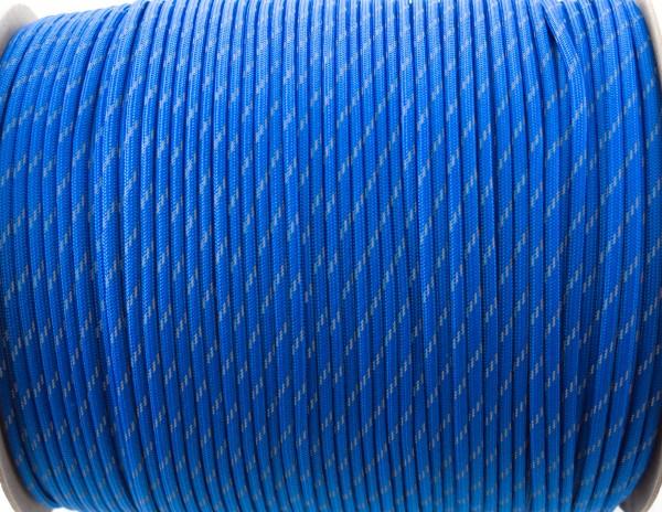 Paracord 500 - 5m reflctive blau