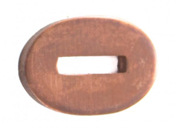 Passung Bronze 18x27x3mm - Schlitzmaß:13x3,2mm