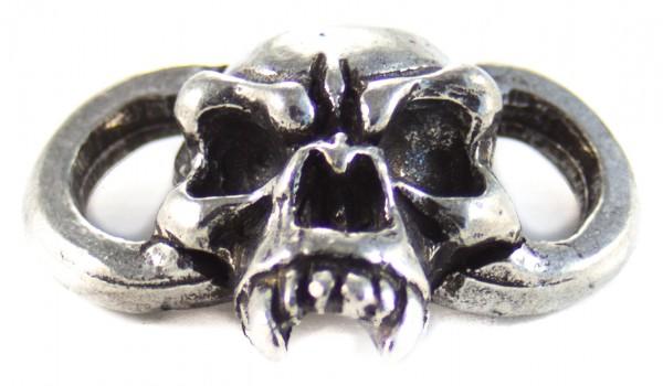 Fang Boot Lace Bracelet Skull Zinn