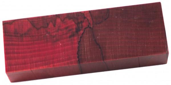 Raffir® stabilisierte Buche, gestockt cross cut rot