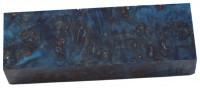 Raffir® stabilisiertes Pappelmaserholz blau
