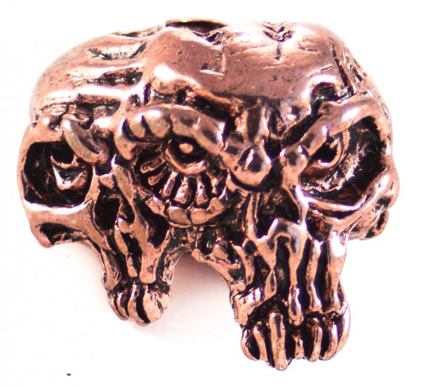 Gemini Twins Skull Antik Kupfer