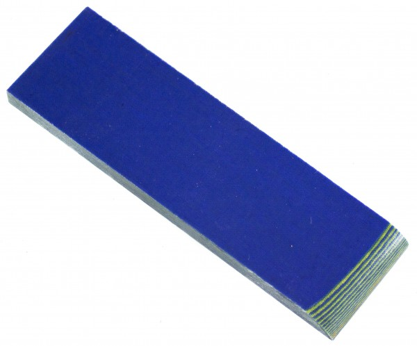 Leinen-Micarta blau/pistazie, Griffschalenpaar 8mm