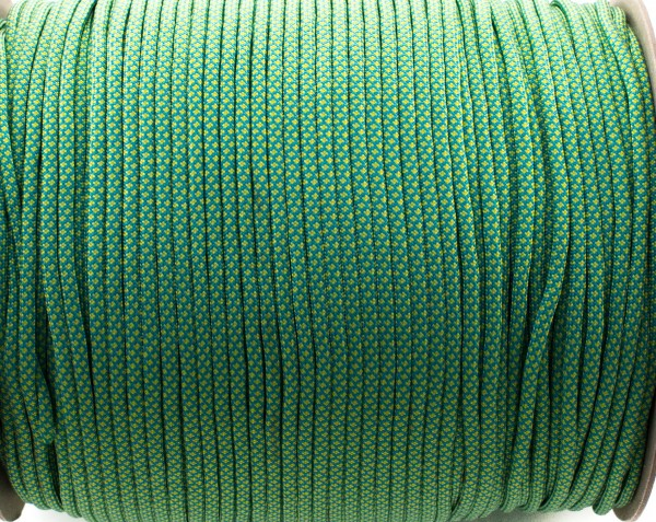Paracord 550 - 5m Blau / gelb snake Diamonds