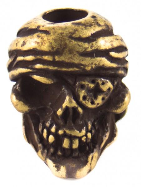 Pirat Skull roman Messing