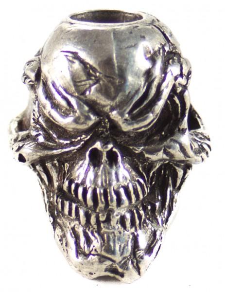 Grinsender Skull Zinn