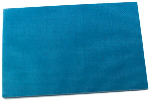 Jute Micarta aqua, Platte 9,5mm