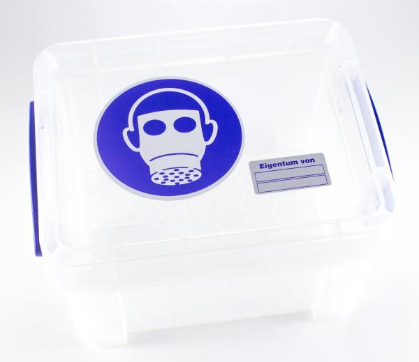 Aufbewahrungs-Box für Halbmasken