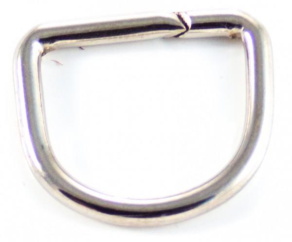 D-Ring (groß) Nickel