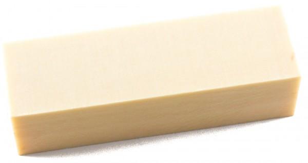 Leinen-Micarta Block elfenbeinmicarta 35mm