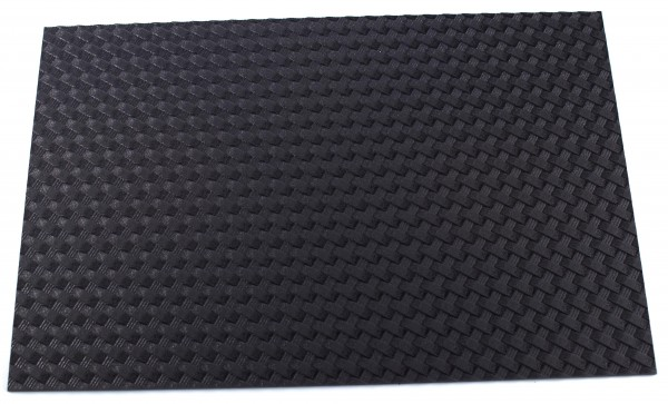 HOLSTEX® Platte 2mm Basket Weave, Armor Black (ca. 300 x 200mm)